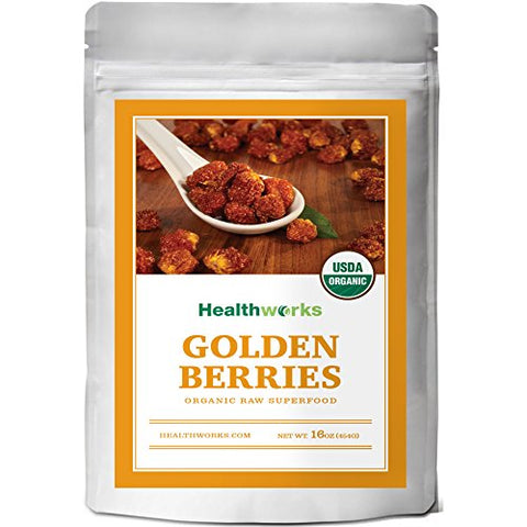 Healthworks Golden Berries Raw Organic, 1lb