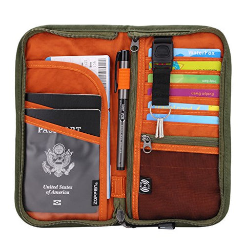 Zoppen Travel Wallet & Documents Organizer Zipper Case