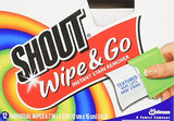 Shout Instant Stain Remover Wipes - 12