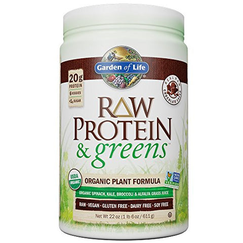 Garden of Life Greens and Protein Powder, Chocolate (22oz)