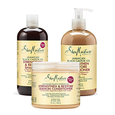 Shea Moisture Jamaican Black Castor Oil Combination Pack