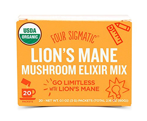Four Sigmatic Organic Mushroom Elixir Mix with Lion's Mane (20 Count)