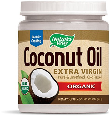 Nature's Way Organic Cold-Pressed Extra Virgin Coconut Oil- Pure, (32 oz)