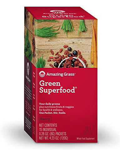 Amazing Grass Berry Superfood Packets (Box of 15)