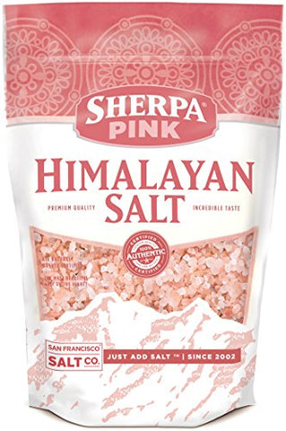 Sherpa Pink Authentic Himalayan Coarse Salt (2lb bag)