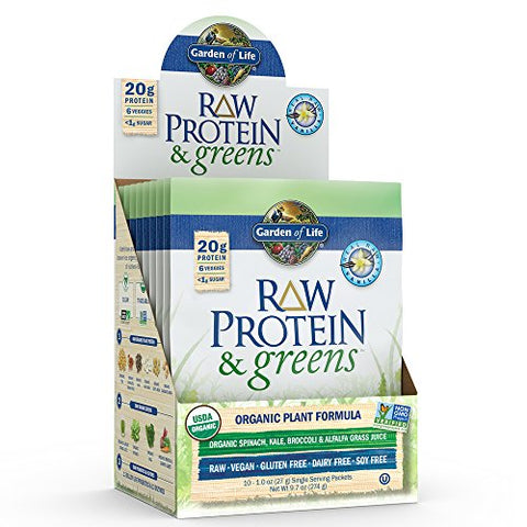Garden of Life Vanilla Greens & Protein Powder Packets (10-Count)