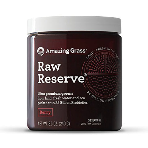 Amazing Grass, Raw Reserve Probiotic Berry Organic Powder