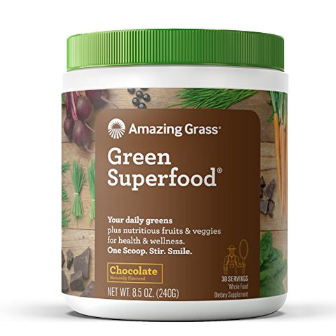 Chocolate Amazing Grass Green Superfood Organic Powder