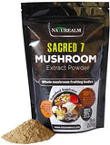 Sacred 7 Organic Mushroom Extract Powder made with Whole Mushrooms, Reishi, Maitake, Cordyceps, Shiitake, Lion's Mane, Turkey Tail, Chaga - 226g - Supplement - Add to Coffee/Tea/Smoothies