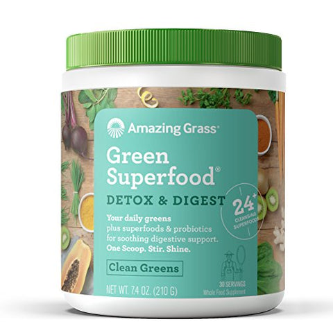 Amazing Grass Green Superfood Detox & Digest Organic Powder