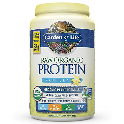 Garden of Life Organic Vegan Protein Powder, Vanilla (22.0oz)