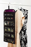 Jaimie Jewelry Hanging Organizer - Portable Design (Home & Travel) - Magnetic Trifold Holder - INSTANT Visual