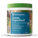 Amazing Grass Green Superfood Alkalize & Detox Organic Plant Based Powder