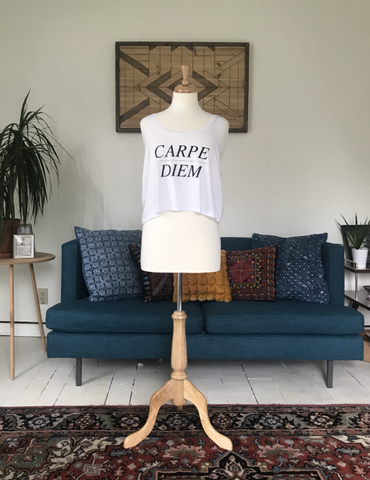 """Carpe Diem"" Cropped Tank"