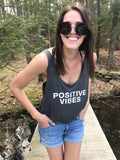 """Positive Vibes"" Cropped Tank"