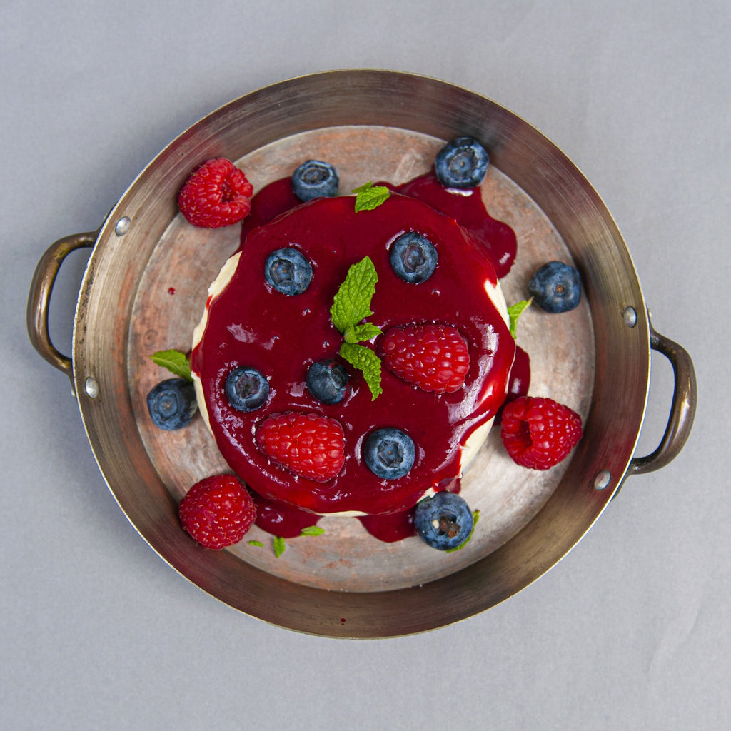 Panna cotta with red fruit
