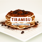 Tiramisu with coffee and chocolate