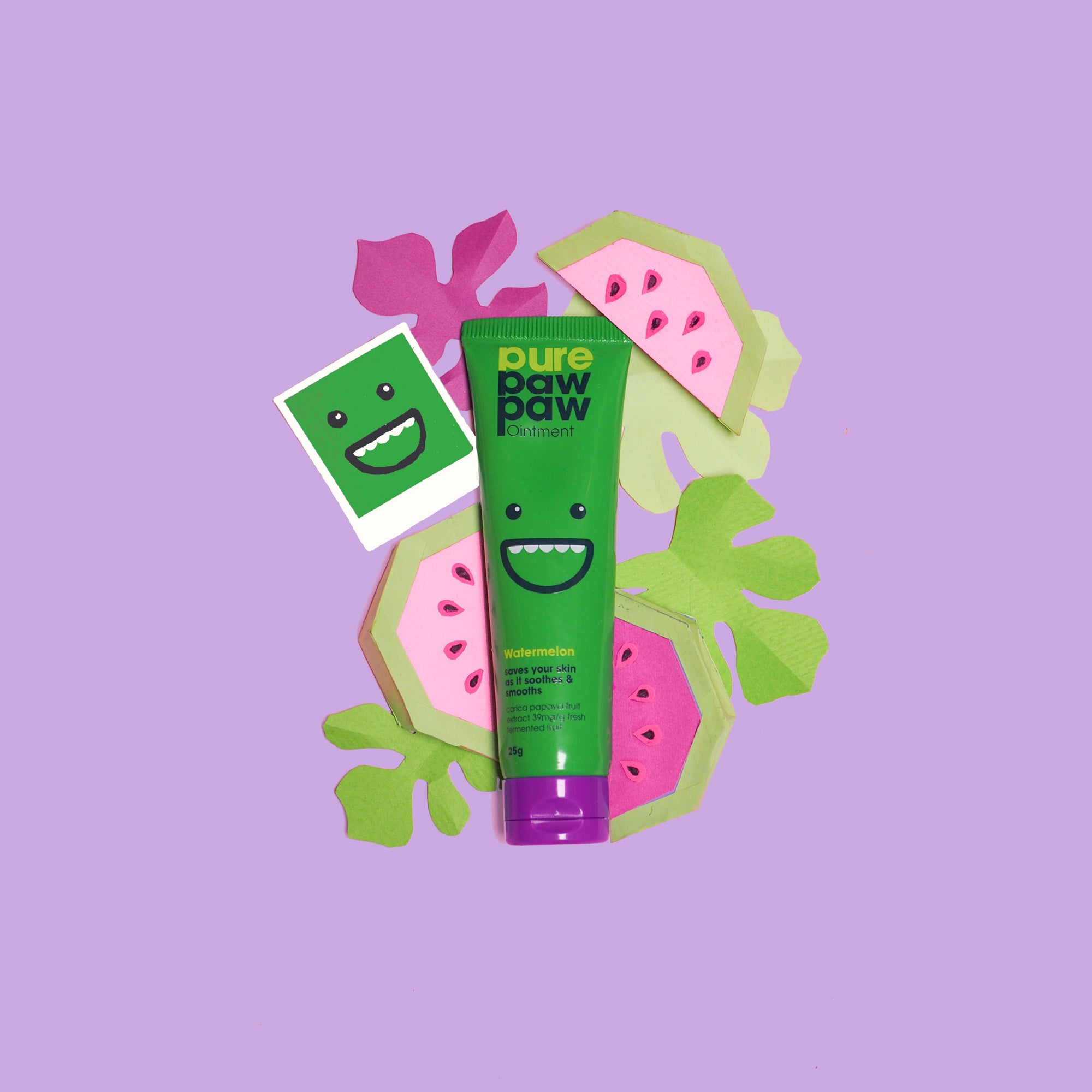 Coming in a colourful green tube with a happy face. Pure Paw Paw watermelon is made with fresh fermented fruit.