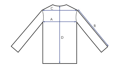 Outerwear and Tops size chart