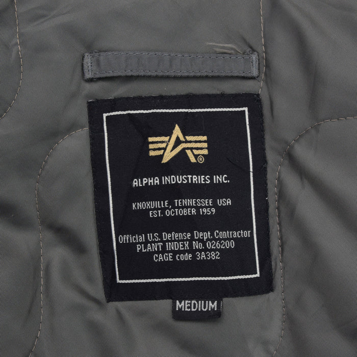 Vintage Alpha Industries CWU-45 Flyer's Man Flight MA-2 Grey Bomber Jacket M label