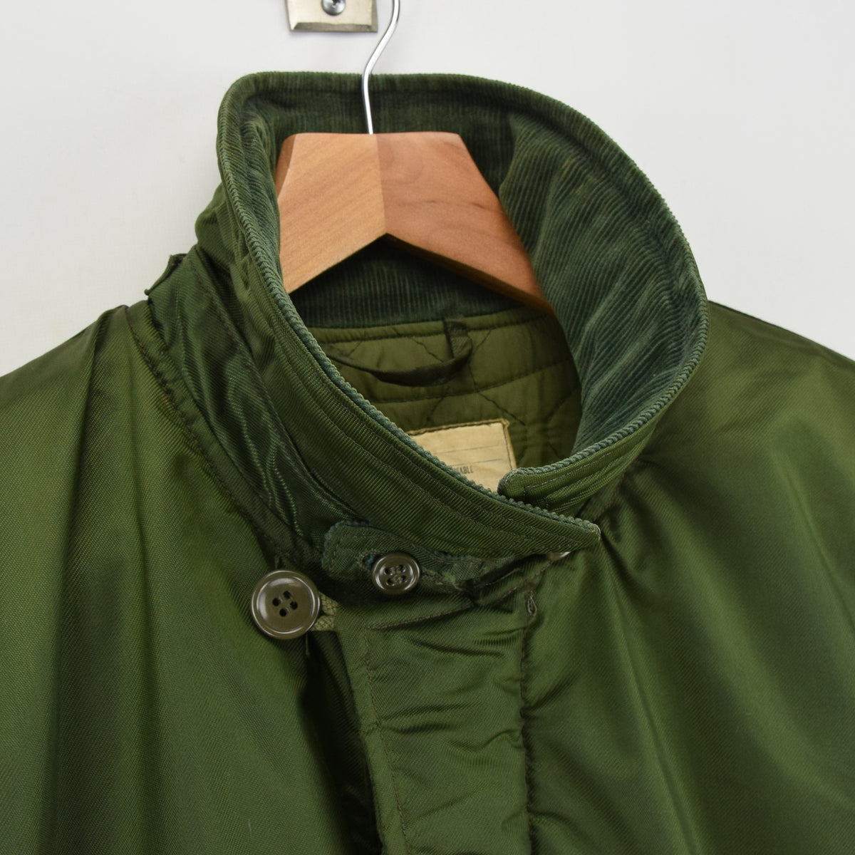 Vintage 70s Military Alpha Industries US Navy Cold Weather Impermeable Jacket L collar