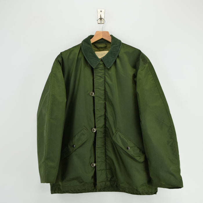 Vintage 70s Military Alpha Industries US Navy Cold Weather Impermeable Jacket L front