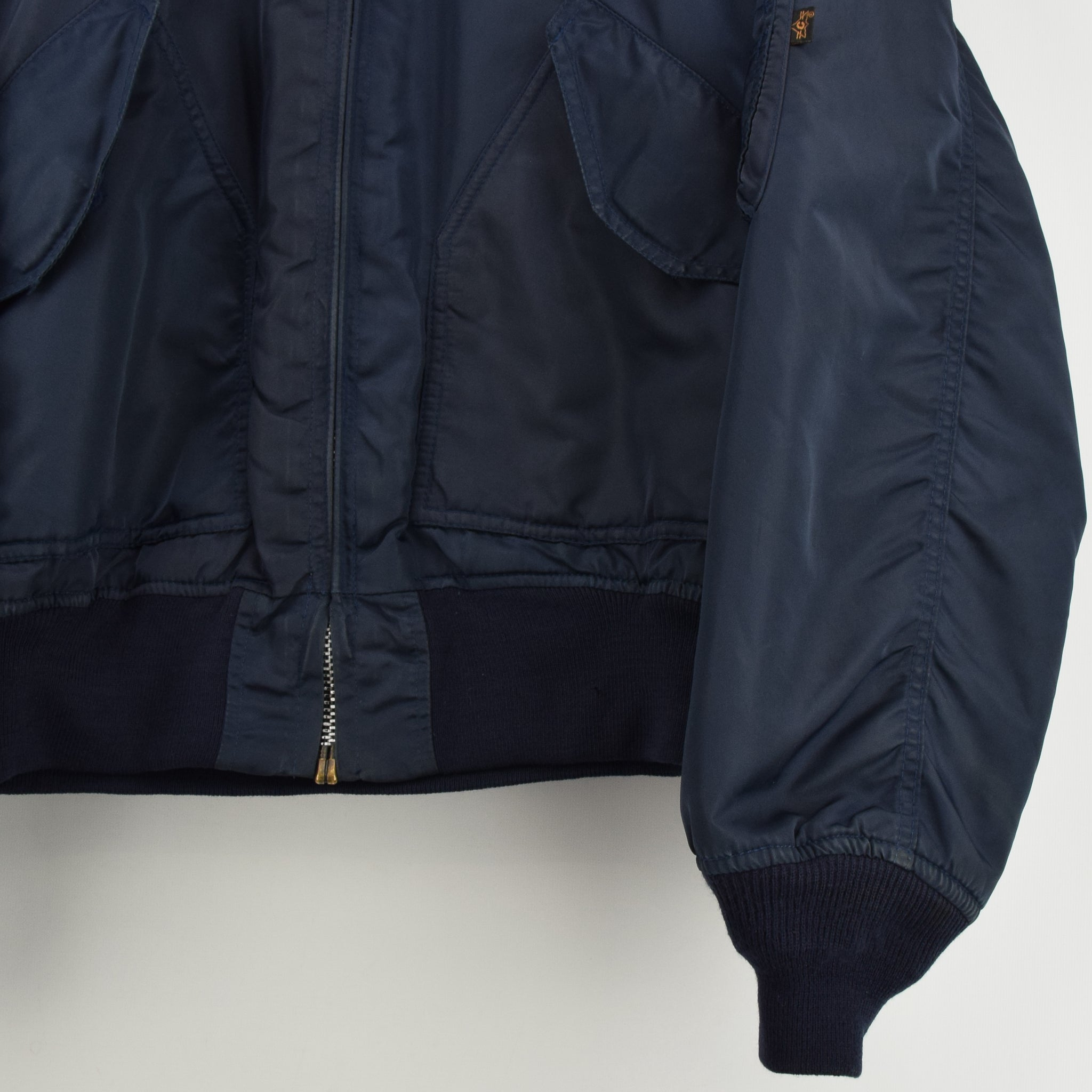 87cd31780305 ... Vintage Concord Industries CWU-45 Flyer s Man Flight MA-2 Bomber Jacket  L front ...