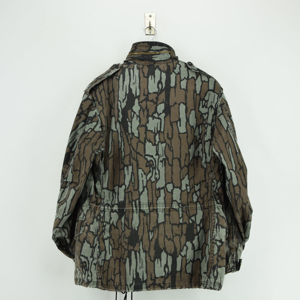 Vintage M-65 Alpha Industries Trebark Camouflage Field Coat Army Jacket M Reg back