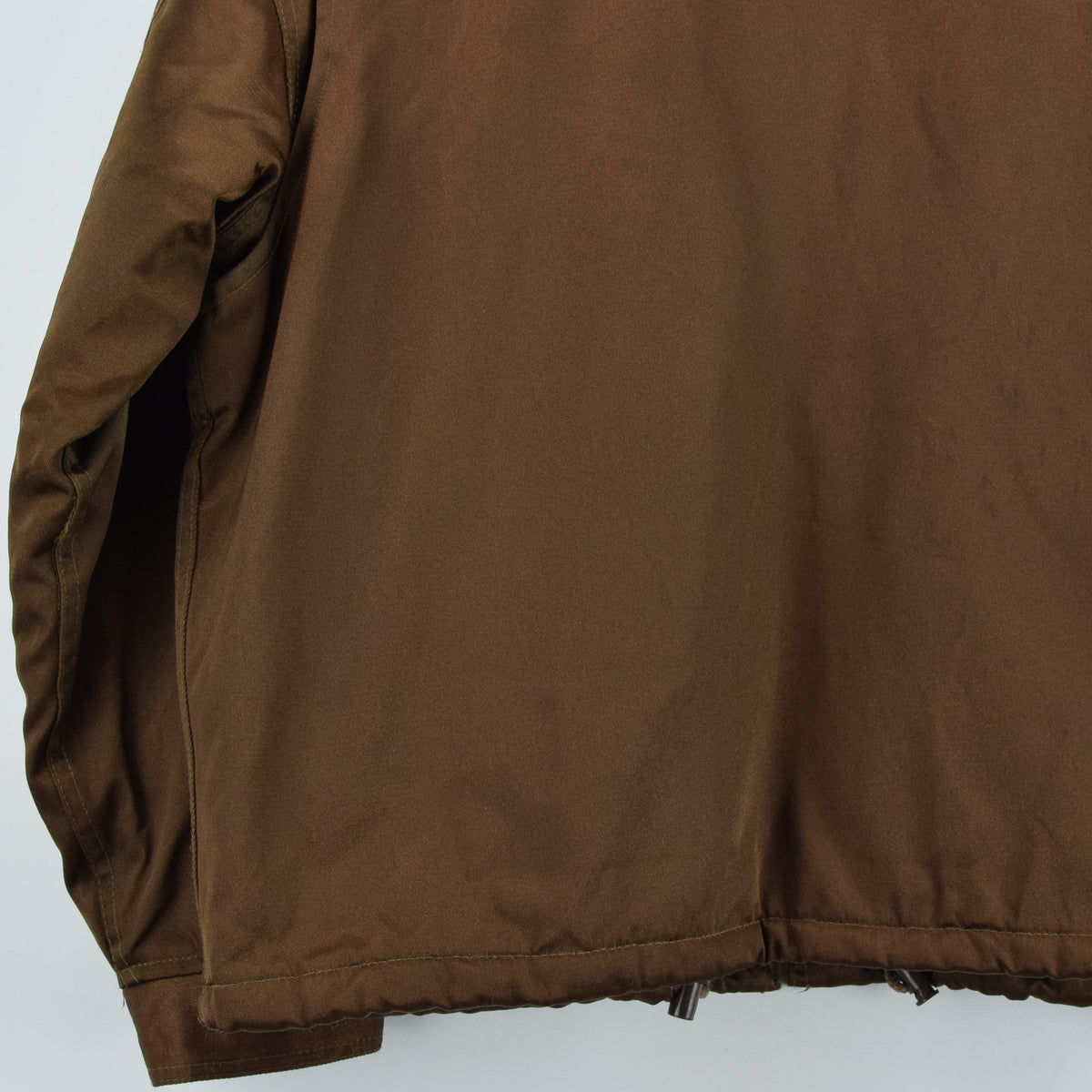 Vintage Schott NYC Men's Security Bronze Brown Bomber Jacket XL / XXL back hem