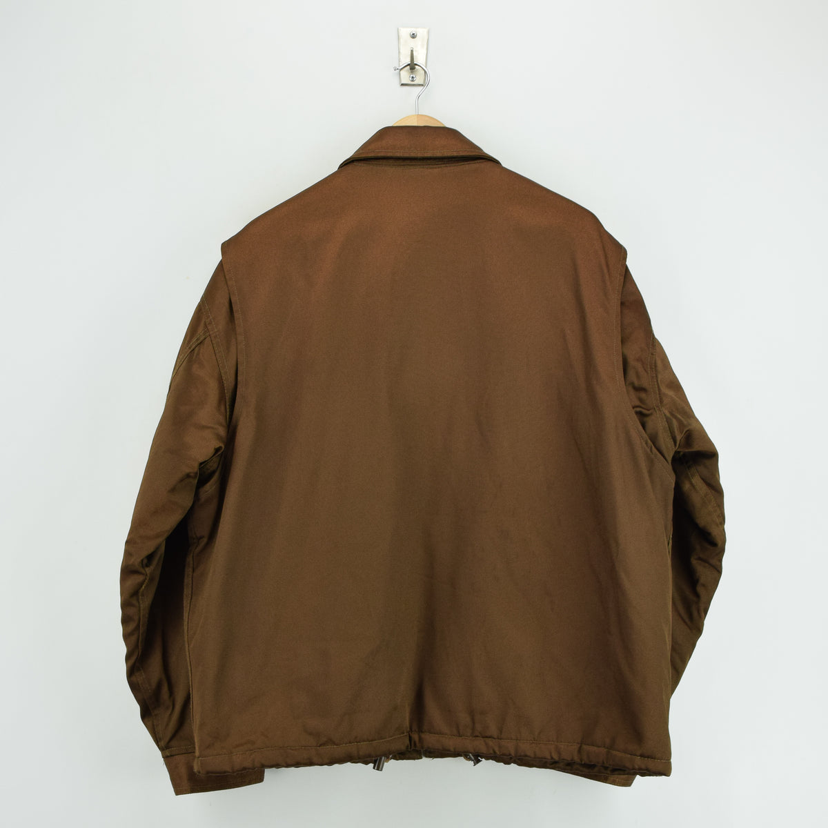 Vintage Schott NYC Men's Security Bronze Brown Bomber Jacket XL / XXL back