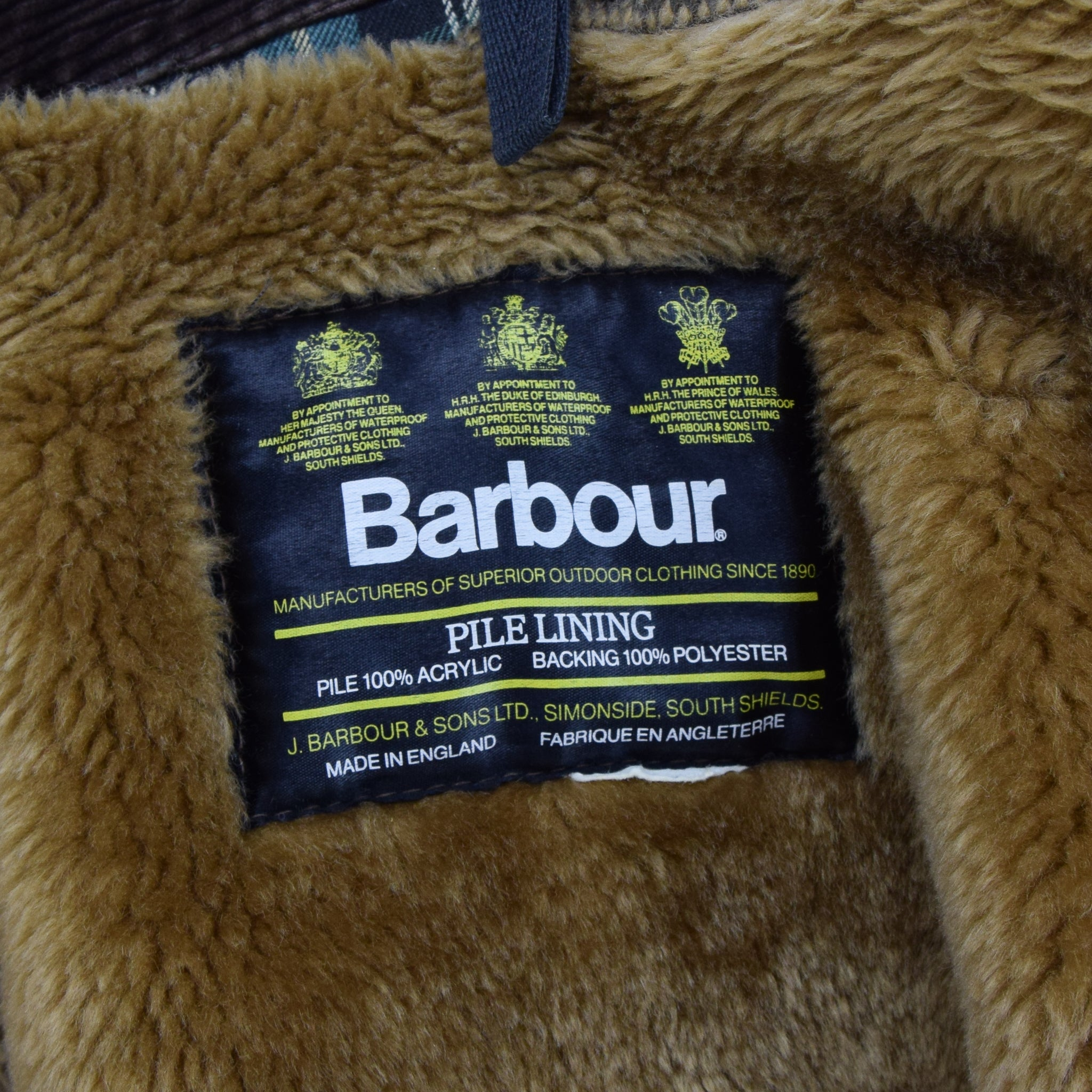 Vintage Barbour Gamefair Green Jacket Coat Made In England L / XL label