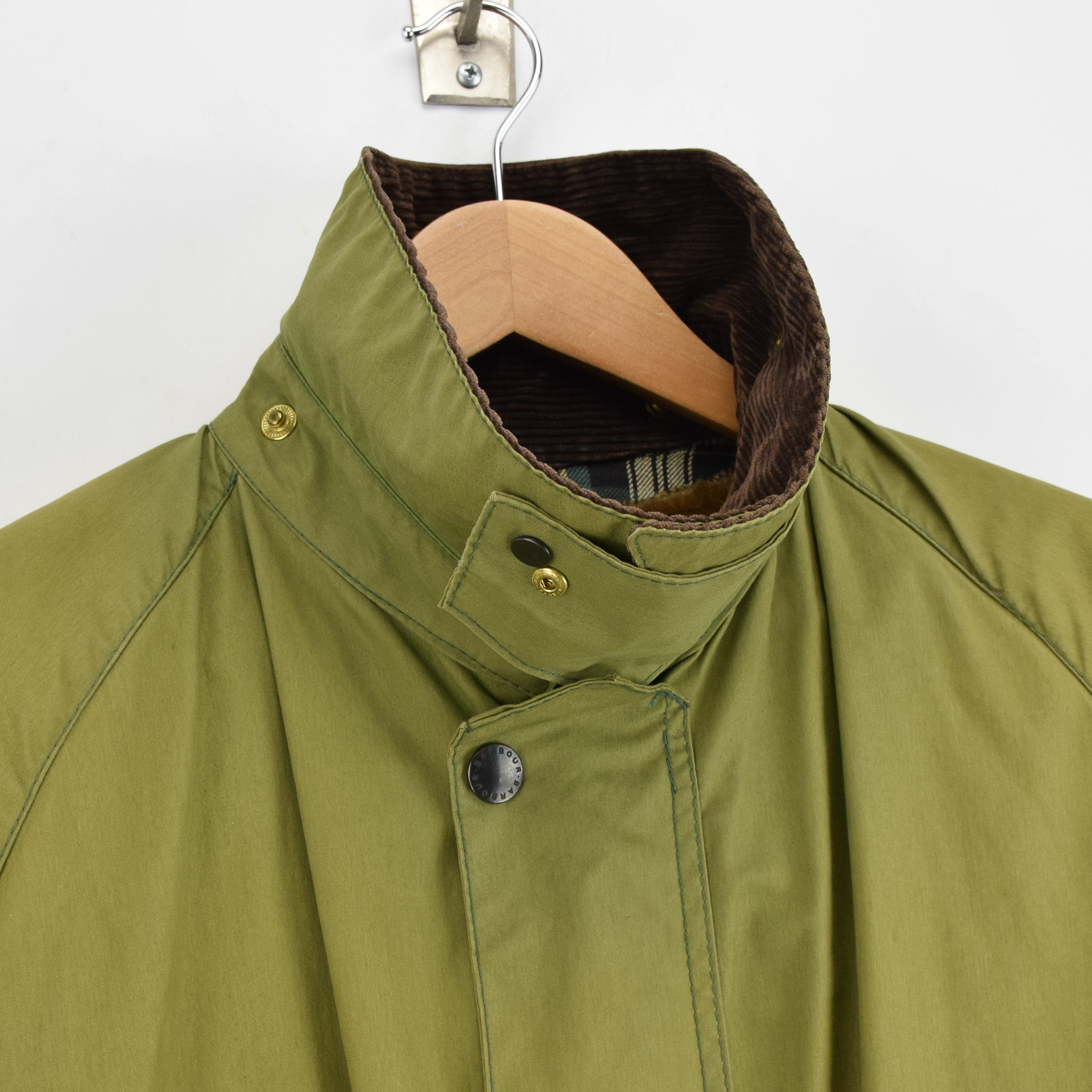 Vintage Barbour Gamefair Green Jacket Coat Made In England L / XL collar