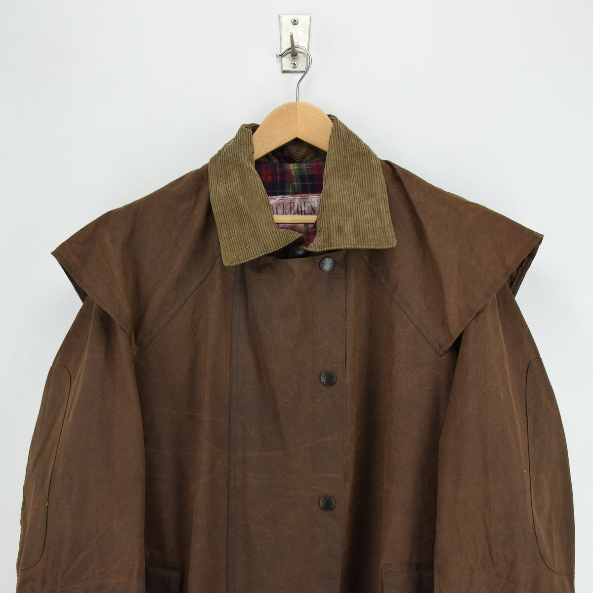 Vintage Backhouse Brown A1250 Stockman's Coat Wax Cotton Riding Jacket S chest