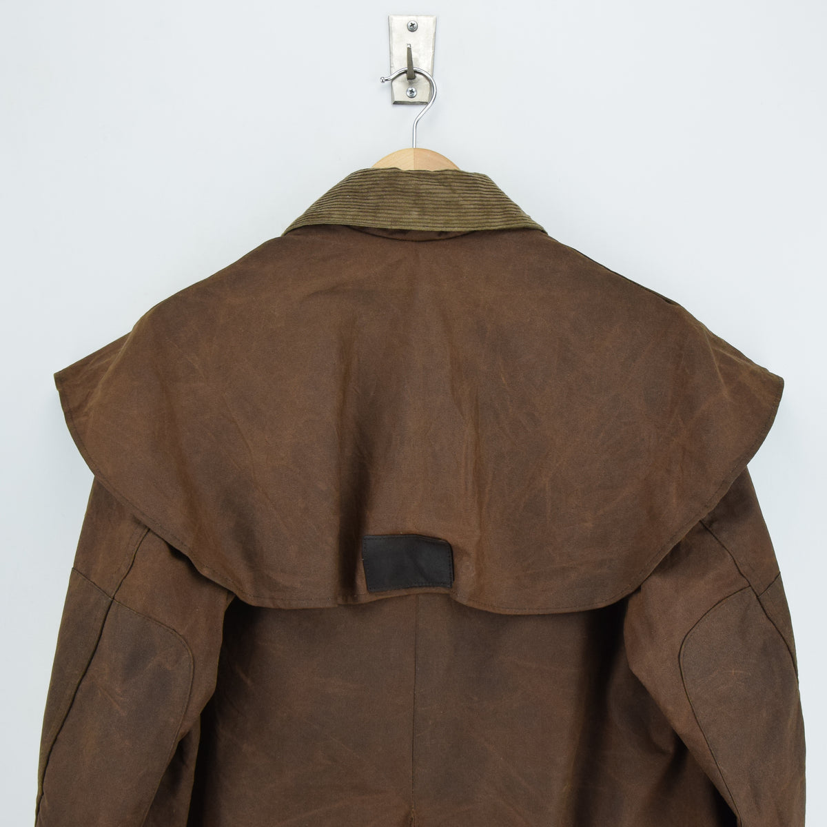 Vintage Backhouse Brown A1250 Stockman's Coat Wax Cotton Riding Jacket S shoulders
