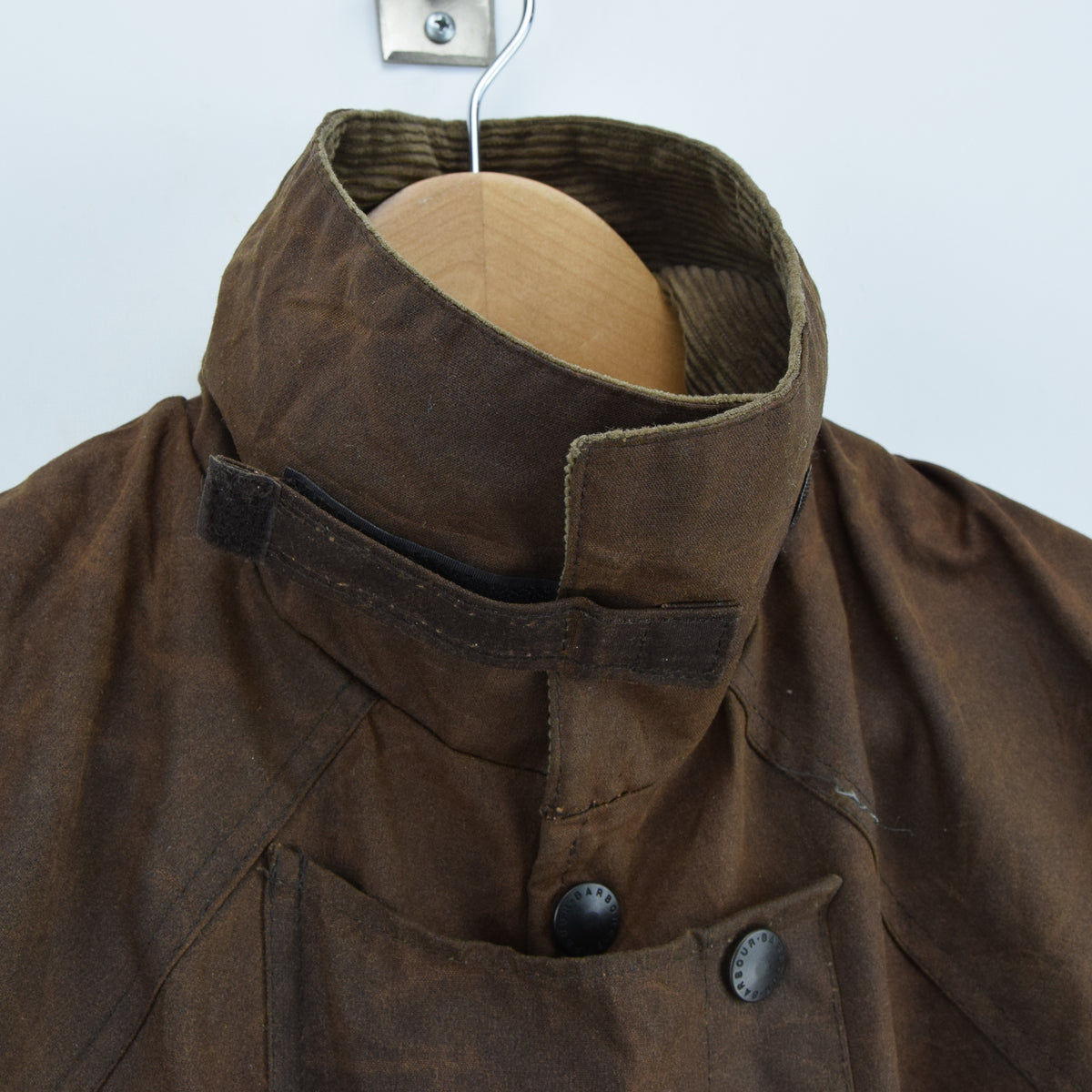 Vintage Backhouse Brown A1250 Stockman's Coat Wax Cotton Riding Jacket S collar