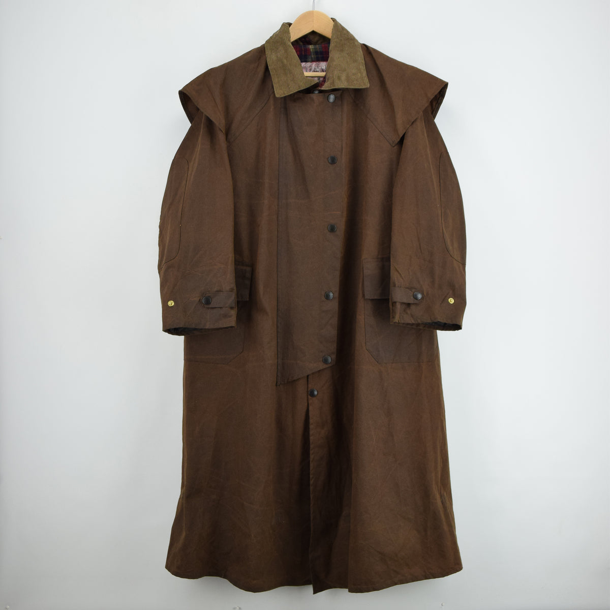 Vintage Backhouse Brown A1250 Stockman's Coat Wax Cotton Riding Jacket S front
