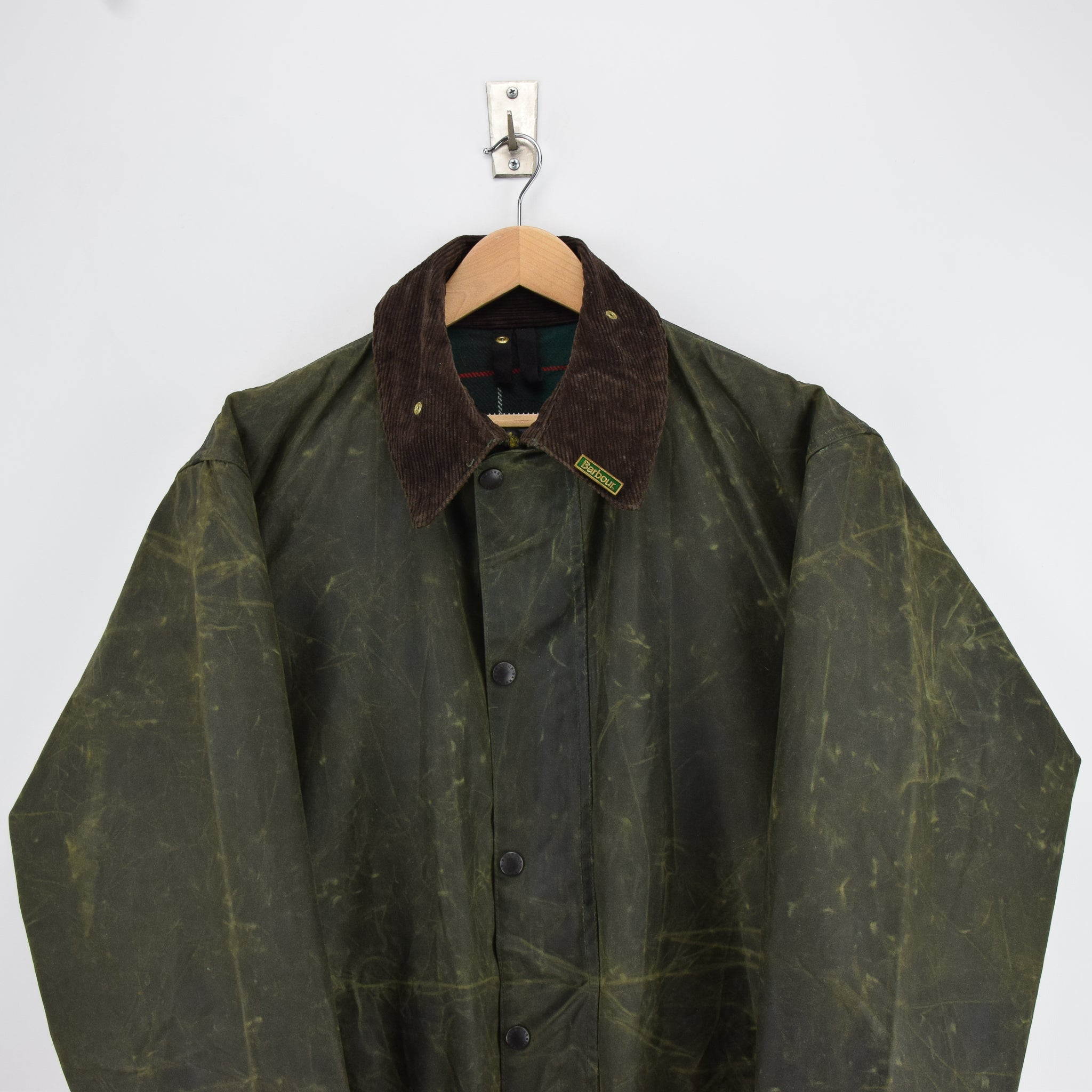 Vintage Barbour A400 Northumbria Green Wax Jacket Coat Made In England XXL chest