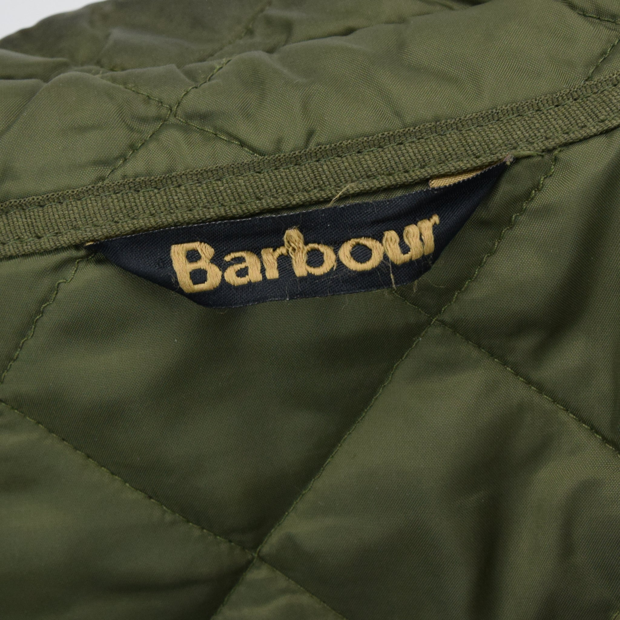 Barbour New Keeperwear Hunting Green Quilted Shooting Jacket Suede Patches M label