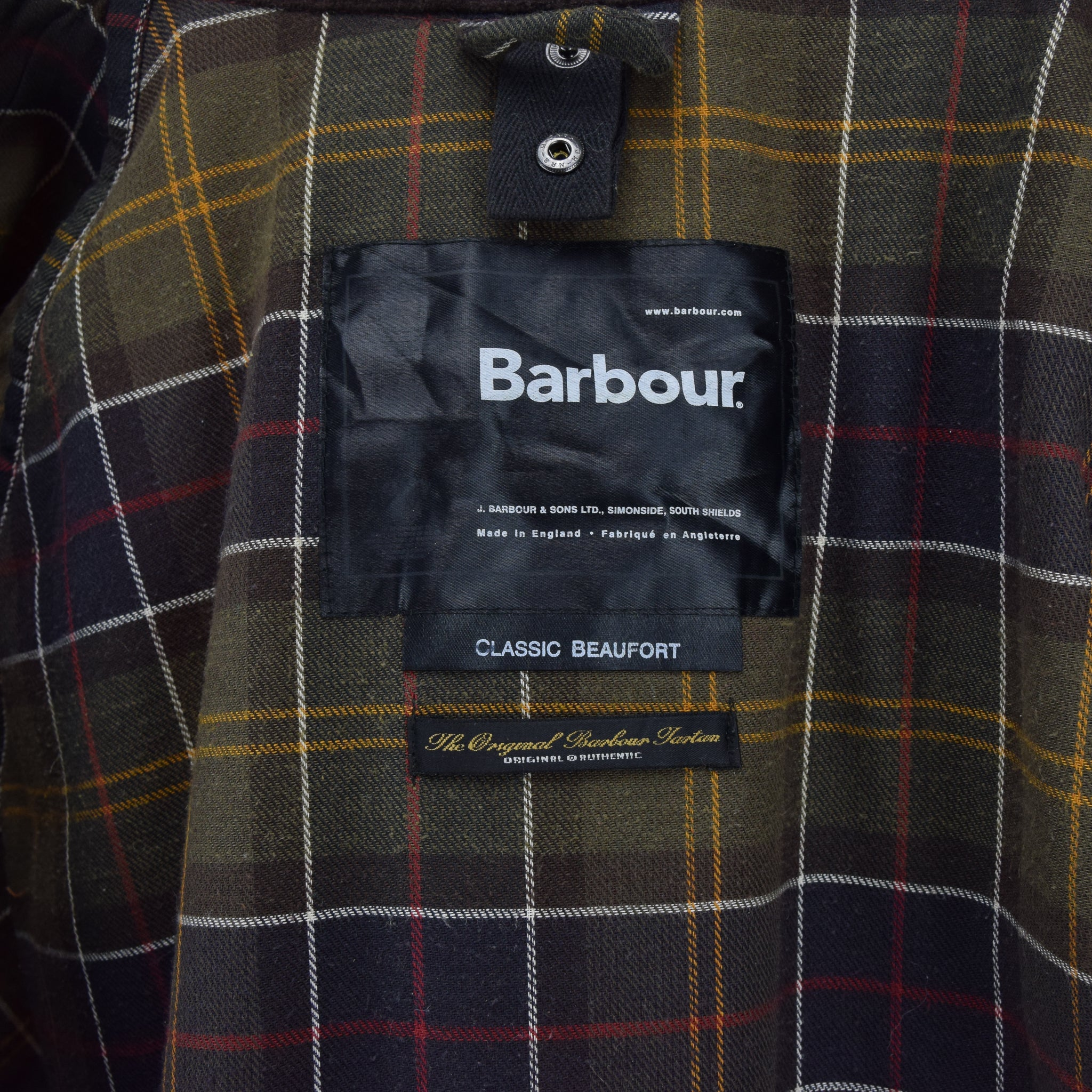 Vintage Barbour A831 Classic Beaufort Brown Wax Jacket Made In England XXL label