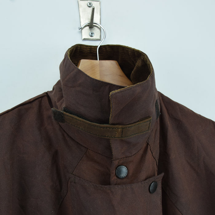 Vintage Backhouse Brown A1250 Stockman's Coat Wax Cotton Riding Jacket L / XL collar
