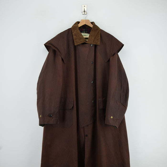 Vintage Backhouse Brown A1250 Stockman's Coat Wax Cotton Riding Jacket L / XL front