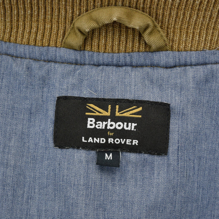 Barbour Land Rover Sand Bomber Harrington Lightweight Summer Jacket S / M label