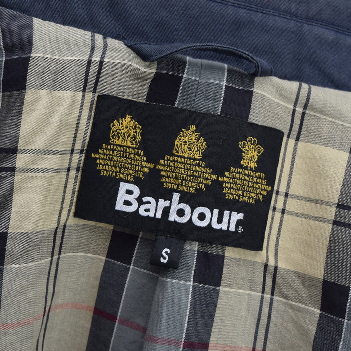 Barbour Navy Blue Cotton Blazer Jacket With Duck Print S label