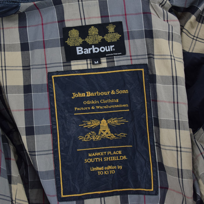 Barbour To Ki To Limited Edition Blue Field Jacket Military Style M label