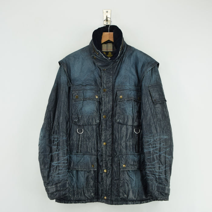 Barbour To Ki To Limited Edition Blue Field Jacket Military Style M front