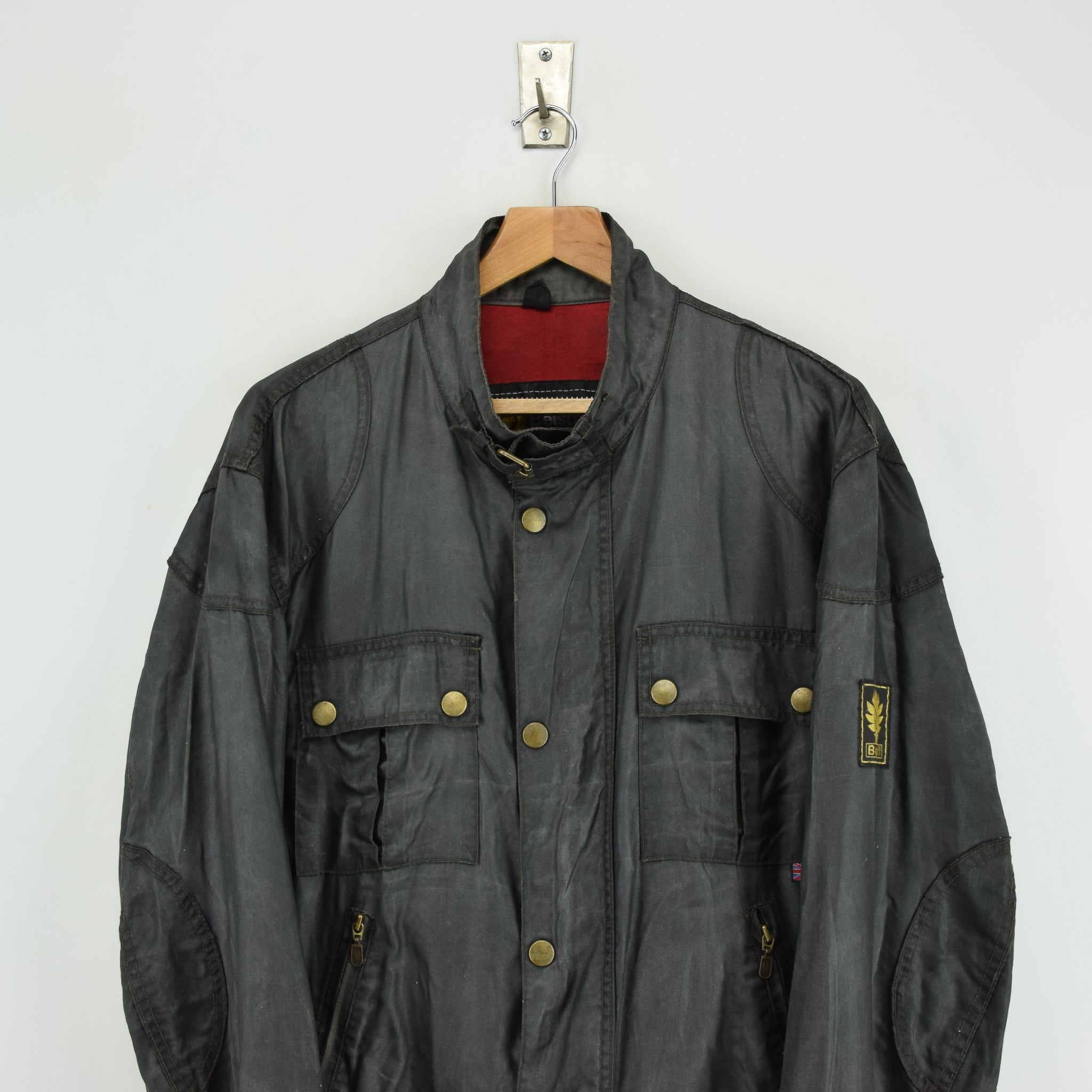 Belstaff Uranium Jubilee 80th Anniversary Short Nylon Biker Jacket L / XL chest