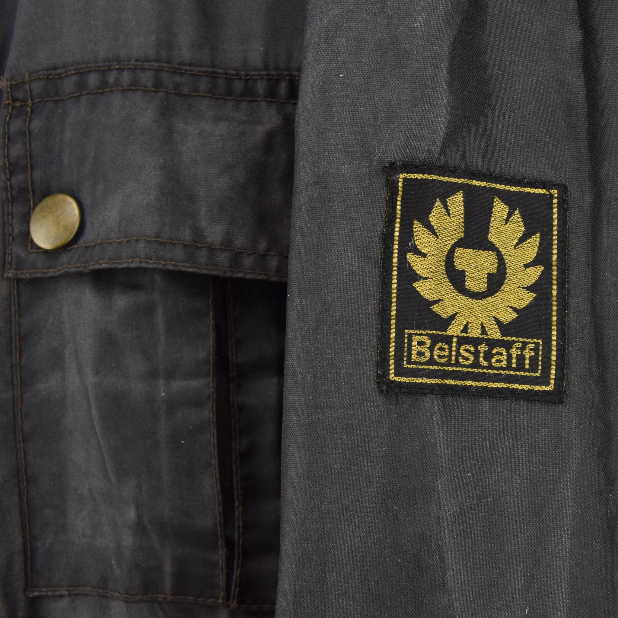 Belstaff Uranium Jubilee 80th Anniversary Short Nylon Biker Jacket L / XL label