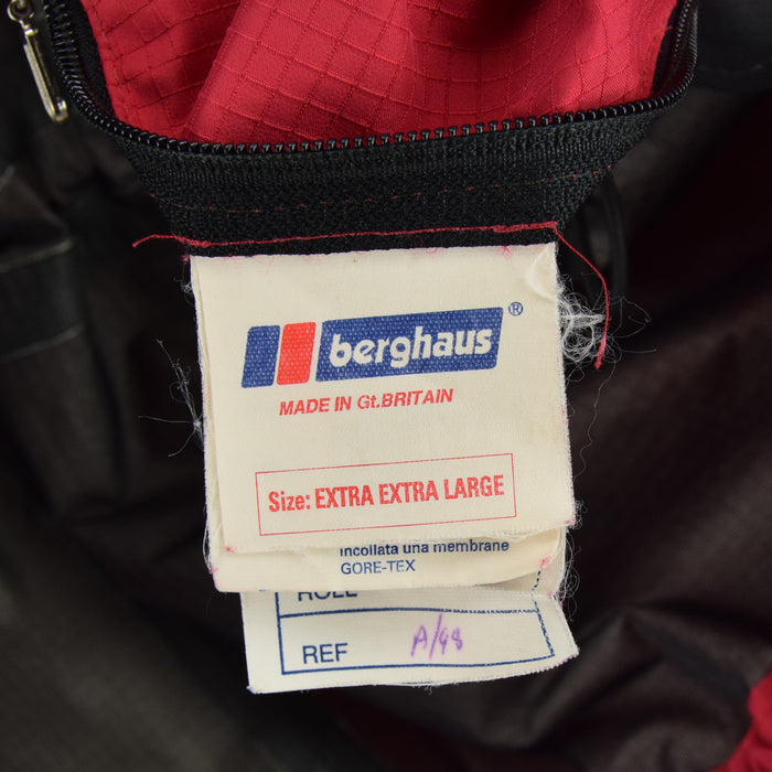Vintage Berghaus Goretex Outdoor Ripstop Intrepid Jacket Made in GB XXL label
