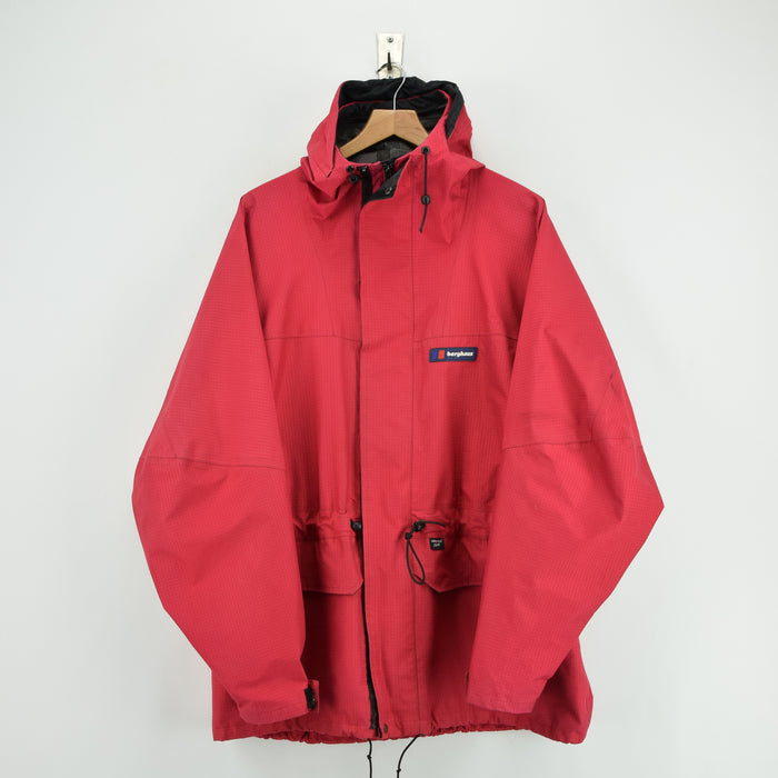 Vintage Berghaus Goretex Outdoor Ripstop Intrepid Jacket Made in GB XXL front