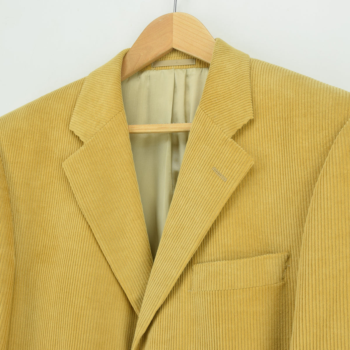 Vintage Austin Reed Sand 3 Button Cotton Corduroy Blazer Jacket 40 Reg chest